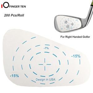 200 Pcs Golf Impact Tape Roll Iron Right Handed Labels Oversized Swing Training Ball Hitting Refill Tool for Men Women