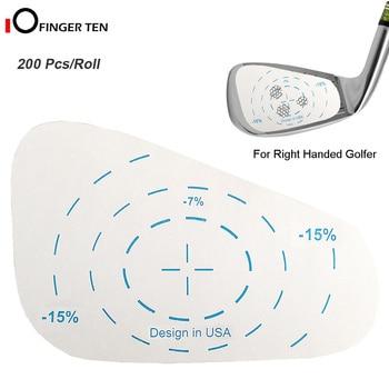200 buc bandă de impact golf rulou fier fier etichete dreapta supradimensionat swing antrenament mingea lovind instrument de reumplere