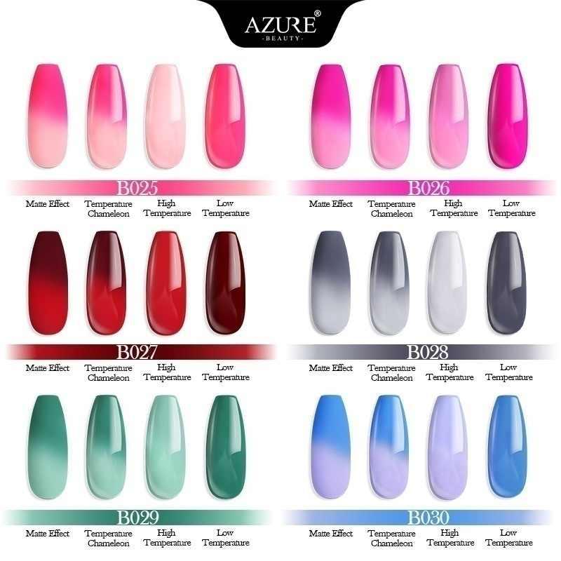 Azure Kecantikan 63 Buah/Banyak Gemerlapan Glitter Mencelupkan Bubuk Kuku Seni Debu Set Hologram Glitter Chameleon DIP Bubuk Base Top Coat