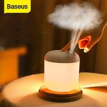 Baseus بالموجات فوق الصوتية الهواء المرطب للمنزل مكتب 600 مللي بالموجات فوق الصوتية الهواء المرطب المرطب صانع ضباب مبيد مع مصباح الليل