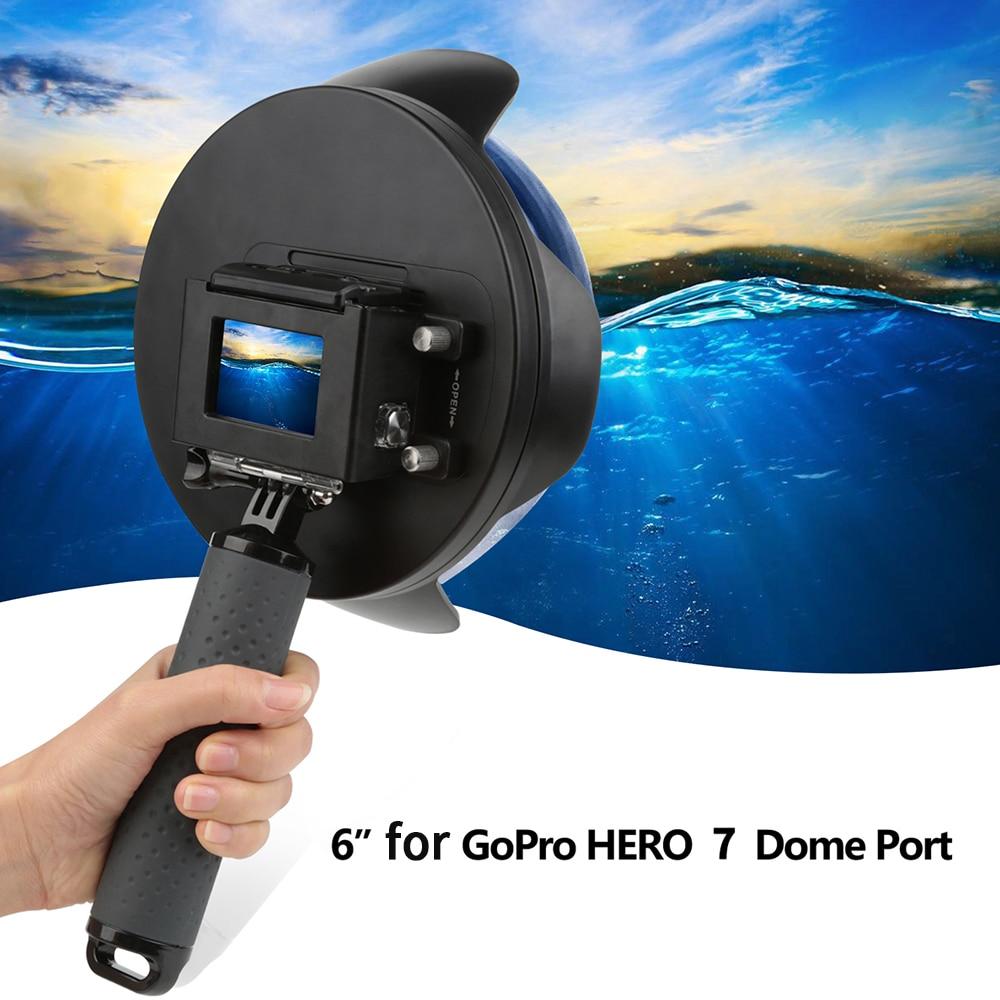 Dome Port Diving Waterproof Housing Case+Hand Grip for GoPro 7 Black//Hero 6//5 UK