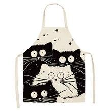 Кухонный Фартук с мультяшным котом 1 шт фартуки из хлопка и