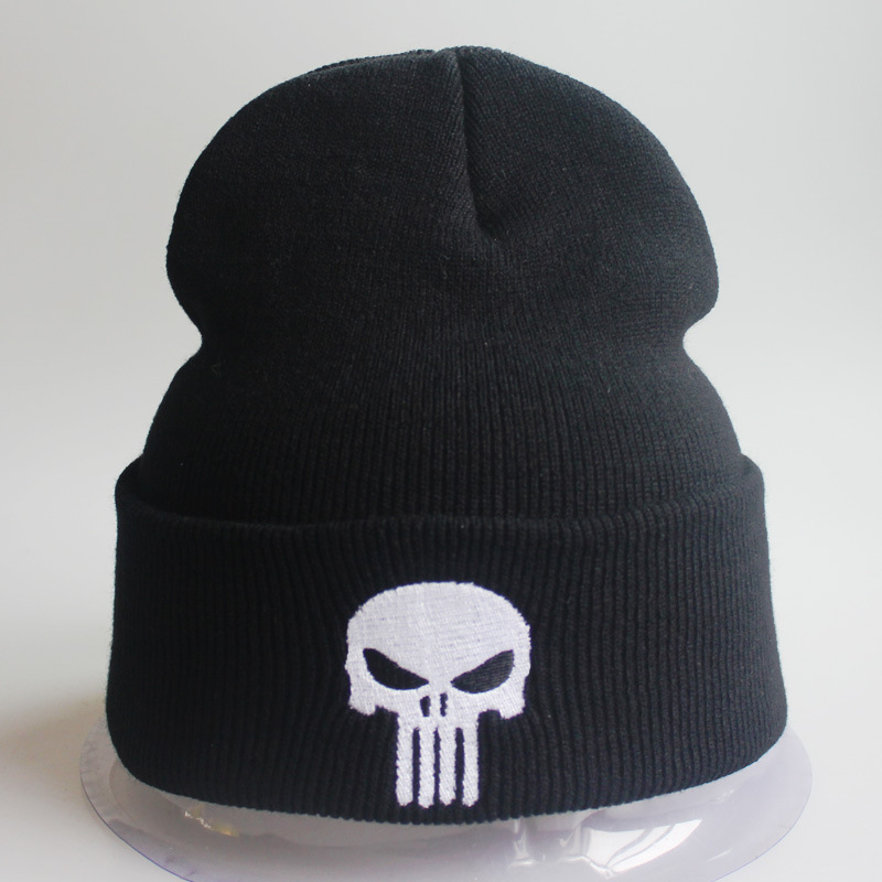 2019 Punisher Winter Hat Men Women Beanie Warm Hat Cap Skulls Skeleton Black Knitted Hat Cap Casual Adult Boys Girls Skullies
