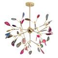 Люстра в виде дерева, лампа для спальни, гостиной, кухни, итальянский дизайн, Скандинавская люстра, натуральный агат, Декор, luminaria pendente