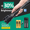 [ JamieFire LED] Powerful Flashlight Torch USB Rechargeable Tactical Hunting Flashlight 21700 Zoom Lamp LED Flash Light Zoomable 1