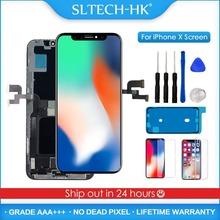 AAA + + + OLED dla iPhone X XR XS Max wymiana ekranu LCD dla iPhone 11 Pro wyświetlacz z 3D montaż dotykowy prawdziwy dźwięk tanie tanio SLTECH-HK CN (pochodzenie) Pojemnościowy ekran 1280x720 3 AMOLED For iPhone X XR XS Max LCD i ekran dotykowy Digitizer