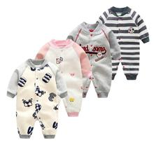 Newborn Baby Clothes Infant One Piece Long Sleeve Climbing Clothes Cotton Baby Boys Girls Jumpsuit spring autumn baby rompers hooded baby boys clothes newborn cotton clothes streetwear long sleeve infant boys girls jumpsuit