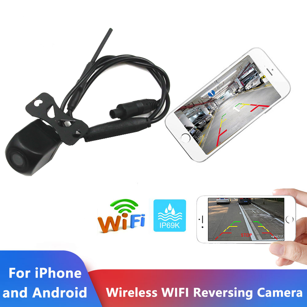 Car Reversing Camera LED Infrared Night Vision Back Rear View Camera Automatic Parking Monitor CCD Video Backup Camera Wifi