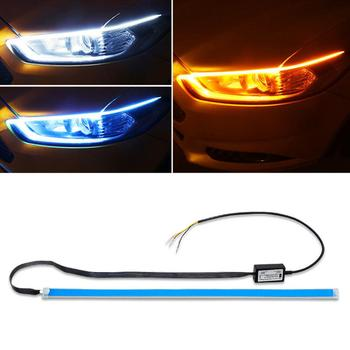 Car Styling DRL LED Daytime Running Lights Accessories Flexible Brake Guide Strips Headlight Day Time Flowing Lamps Accessories image
