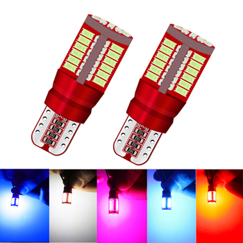 2pcs Super Bright Canbus T10 194 168 W5W 3014 57 LED SMD White Orange Car Side Wedge Auto Wedge License Parking Light Red Blue 10pcs t10 w5w cob led canbus white yellow red super bright car light 194 168 38led parking bulbs backup reverse for brake lamps
