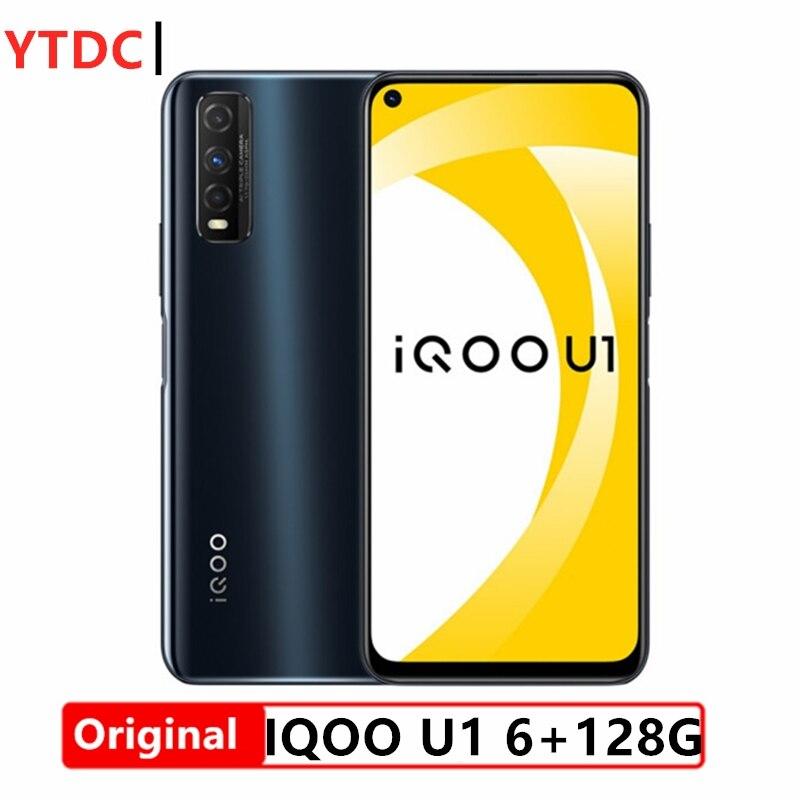 Original Vivo iQOO U1 4G Smartphone UFS2.1 Face ID Snapdragon 720G 6.53inch 2340x1080 LCD 48.0MP Camera 4500mAh 18W Quick Charge