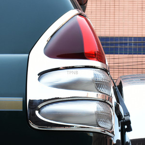 Image 2 - For Toyota Land Cruiser Prado 120 FJ120 2003 2004 2005 2006 2007 2008 2009 Rear Light Trim Hood Car Styling Accessories