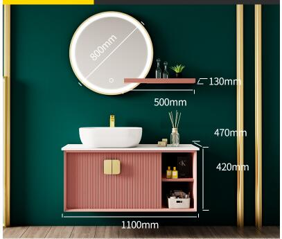 Meilleure Promo 15 De Reduction Ardoise Lumiere Luxe Meuble Salle De Bain Combinaison Moderne Minimaliste Lavabo Lavabo Meuble Mural Salle De Bain Evier Cust
