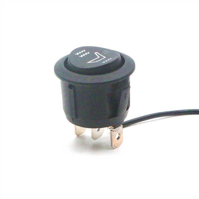 R13-112 автомобиля/cиденье для яхты нагрева системный переключатель/ВКЛ-ВЫКЛ-на 3 контакты 3 позиции/2 цвета светодиодный высокий/низкий температурный режим/12 V 20A