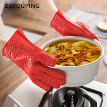 Glove Kitchen Cooking Silicone BBQ Temperature-Resistant Hot Oven