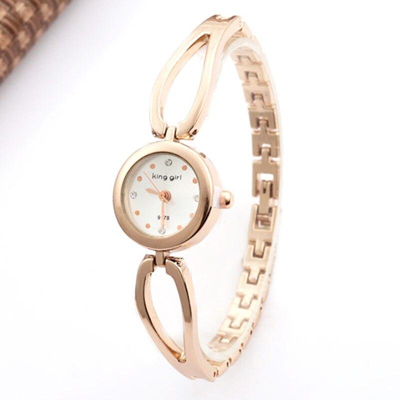 Top Brand Luxury Rose Gold Watches Women Fashion Dress Quartz Wristwatches Bracelet Bangle
