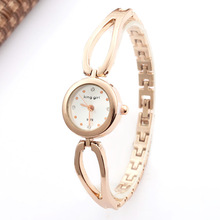 Top Brand Luxury Rose Gold Watches Women Fashion Dress Quartz Wristwatches Bracelet Bangle