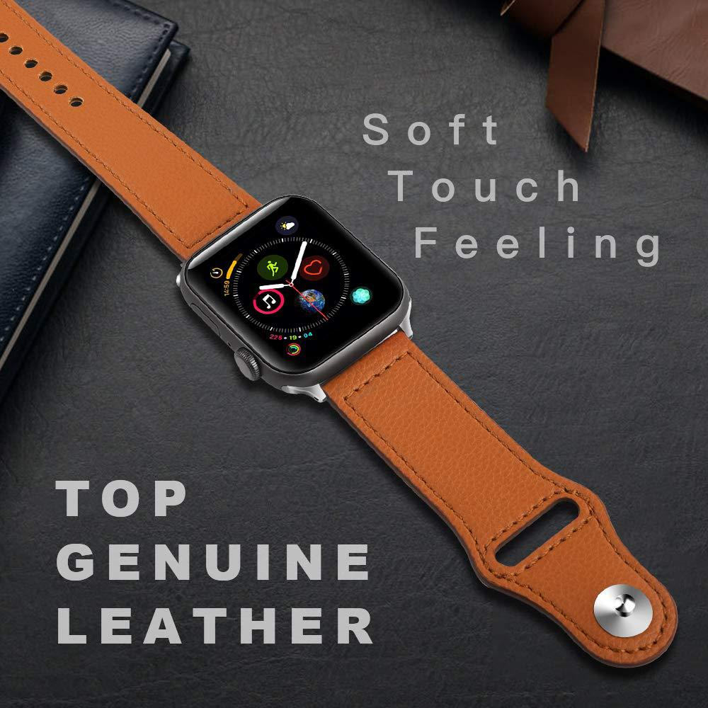 Leather Loop For Apple Watch Band Strap Apple Watch 4 Band 44mm 40mm IWatch 3 2 1 42mm/38 Mm Genuine Leather Bracelet Watchband