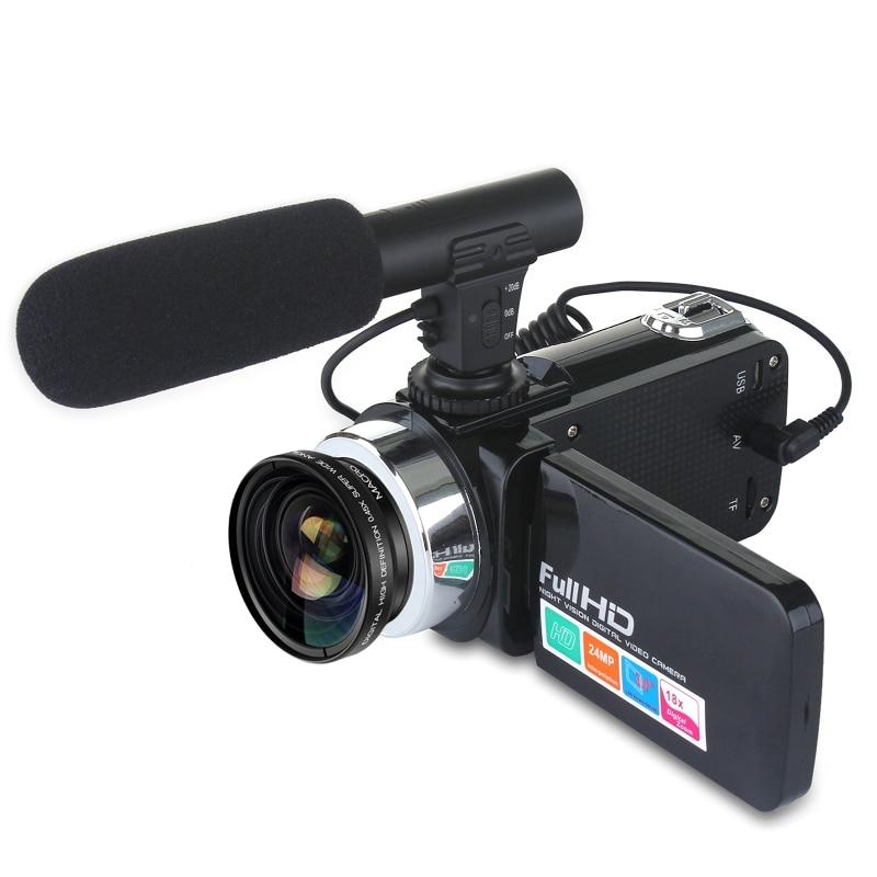 24MP Camcorder Digital Video Camera 3 Inch LCD Screen 18x Digital Zoom Camera D08A
