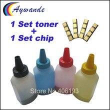 1 комплект тонера+ 1 набор микросхем КЛТ 407 CLT-407 CLT-K407S для samsung CLP-320 CLP-325 CLP-326 CLX-3180 CLX-3185 Заправка тонер