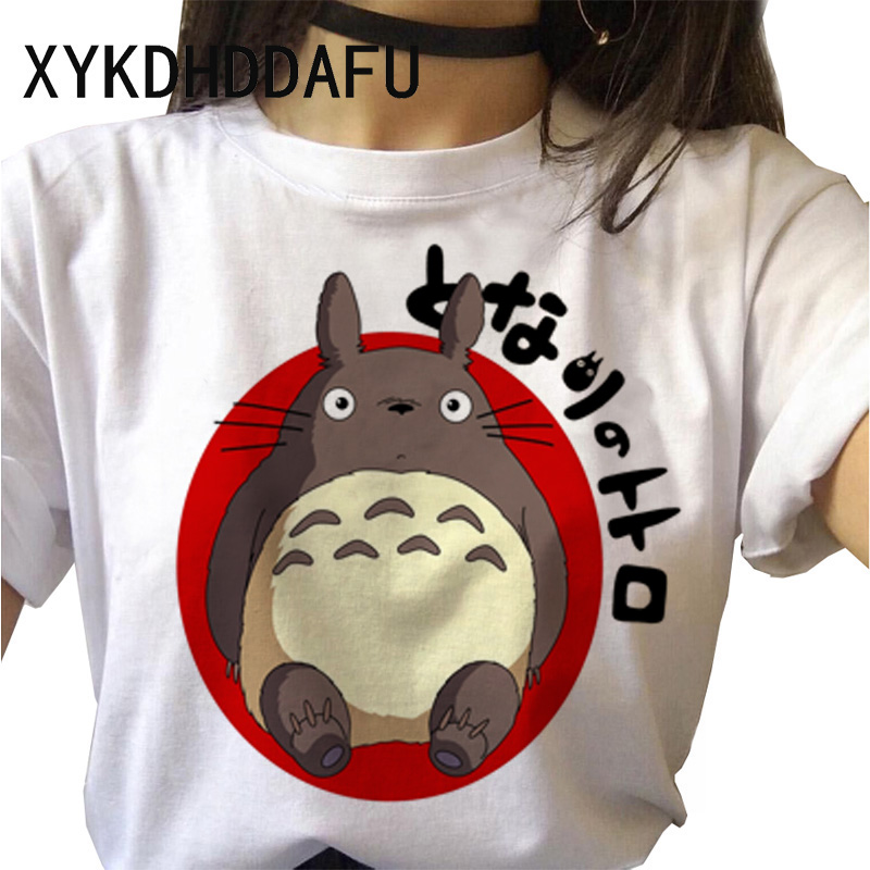H28e3043b3d624f578633a536de8452e4h - Totoro T Shirt Women Kawaii Studio Ghibli Harajuku Tshirt Summer Clothes Cute Female ulzzang T-shirt Top Tee japanese Print