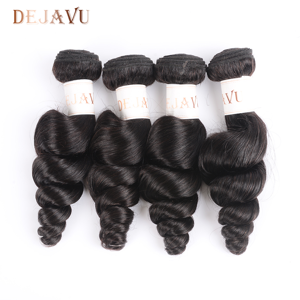 Dejavu Loose Wave Bundles 4 Bundles Deal Non Remy Hair Bundles Natural Color Human Hair Bundles Hair Extension Cabelo Humano