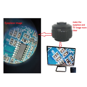 Image 5 - Single arm support 3.5X 90X industrial Trinocular stereo microscope 0.5X 2.0X Objective lens glass cell phone Electronics repair