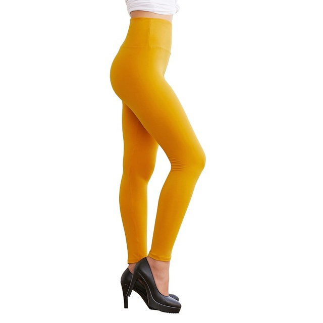 Seamless Solid Color Leggings 4