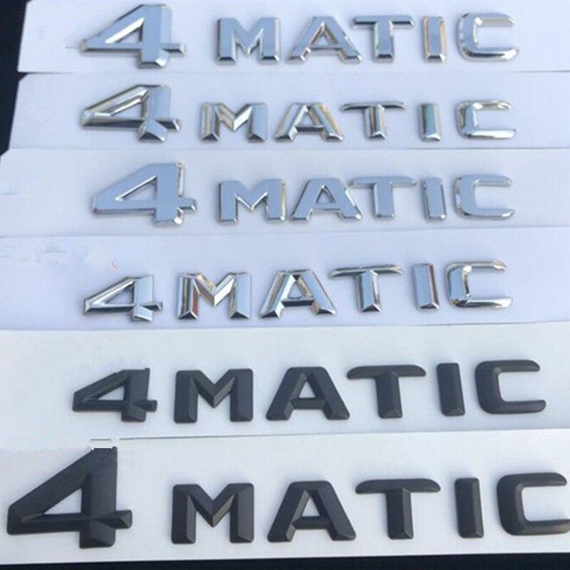 Для Mercedes-Benz A, B, C, E, G S ML SL CL GLA CLA класс AMG 4matic 4matic багажник хром и черными буквенными принтами и эмблема знак, наклейка на автомобиль