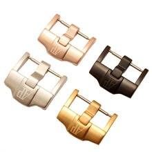 Hebilla de acero inoxidable para reloj, accesorios de pulsera de acero inoxidable, adecuada para la serie AP ROYAL OAK, hebilla de Pin de correa de silicona de 20, 22 y 24mm