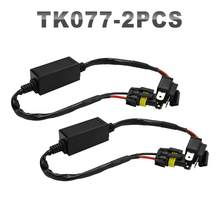 JGAUT 2 Pieces H4 HID Connector Telescopic Wiring Harness for 12V 24V Hid Kit connection Blub and Ballast(China)