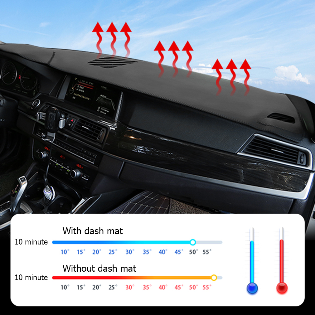 For Toyota prado low profile 2014 year car dashboard cover dash mat pad dashmat non slip Leather Fannel in Car Anti dirty Pad from Automobiles Motorcycles