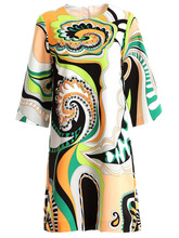 Baogarret New Spring Summer Fashion Vintage Dress Womens Beading Sequined Geometric Printed Elegant Vacation Mini Dresses