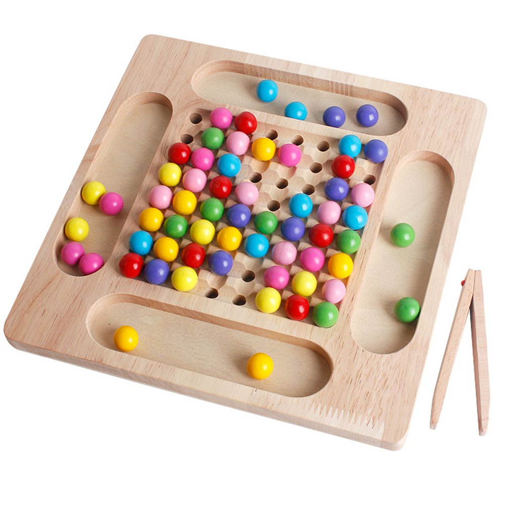 Quebra-cabeça brinquedo de xadrez mágico conjunto arco-íris bola correspondência jogo educação infantil jogos de tabuleiro