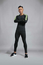 Fitness suit men running speed-drying sports basketball training tights gym morning run thin  sweatsuit jogger set