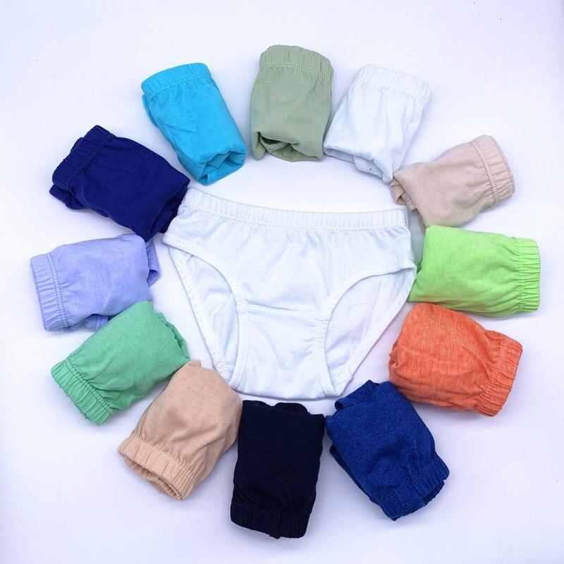 4pcs/Lot Solid Colors Boys Underwear Kids Briefs  Children Pants  Underwear Shorts  1-12Y 3