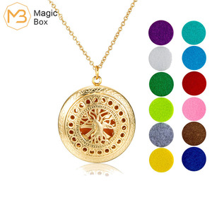 10 styles Aroma locket Necklace Magnetic Stainless Steel Aromatherapy Essential Oil Diffuser Perfume Locket Pendant Jewelry(China)