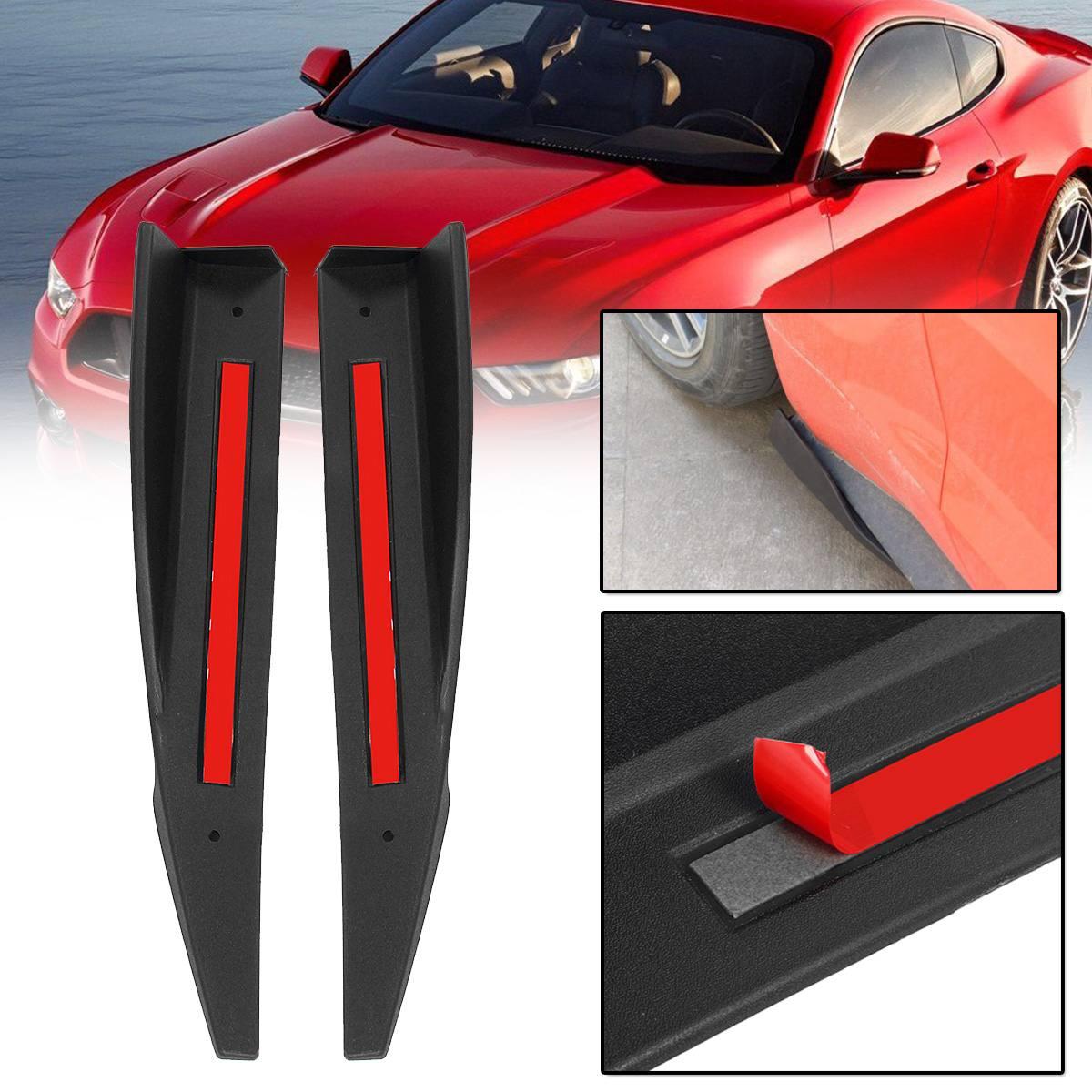 2PCS 36cm Universal Auto Körper Seite Röcke Verlängerung Rocker Splitter Diffusor Winglet Stoßstange Für Ford Für Mustang 2015 2016 2017