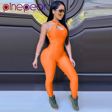 PinePear Jacquard Wrinkled Jumpsuit Women Sportswear Gym Rom