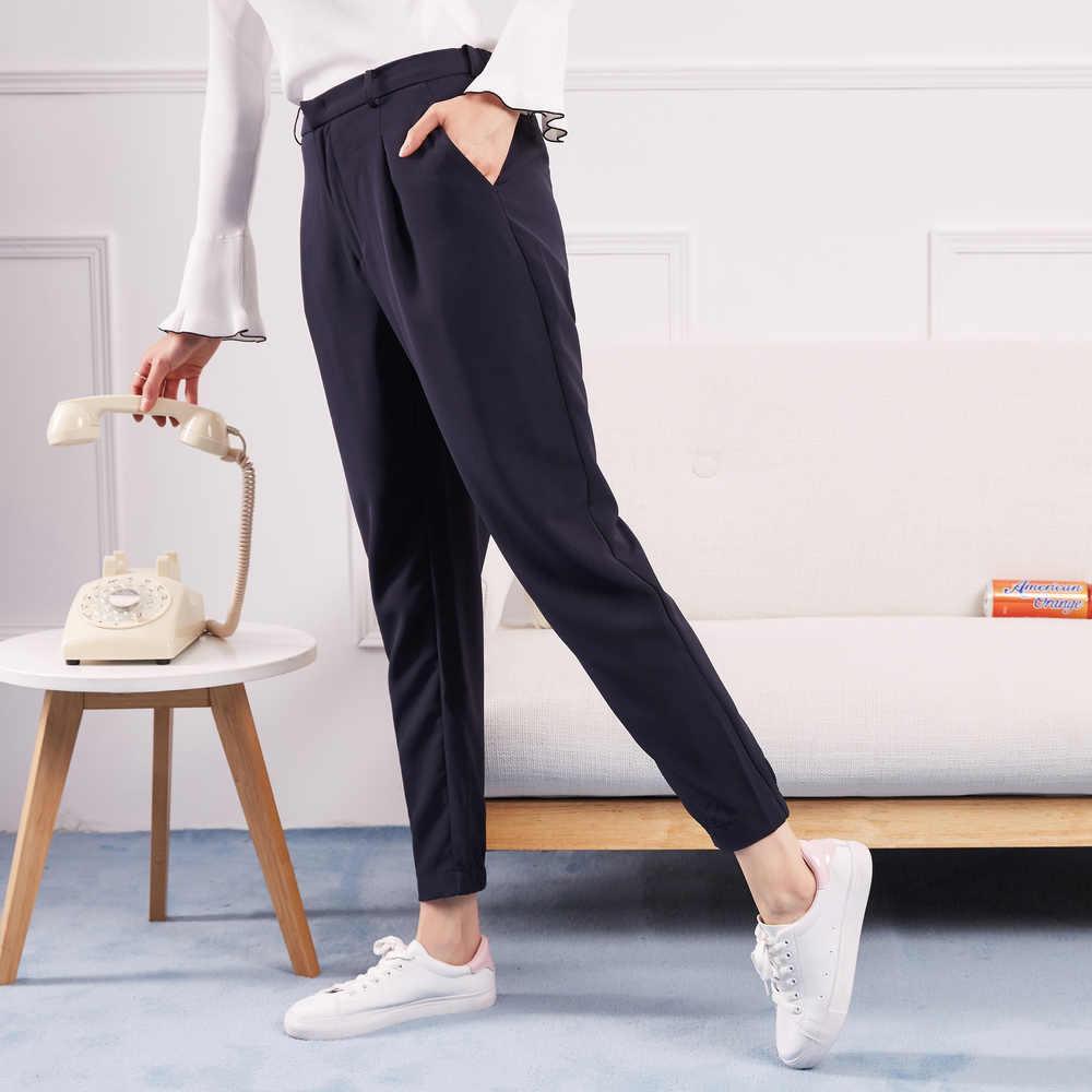 Metersbonwe Neue Casual Hosen Für Frauen Hosen Frau Hohe Qualität Büro Dame Hosen Slim fit einfache Alle-spiel Strahl füße Hosen