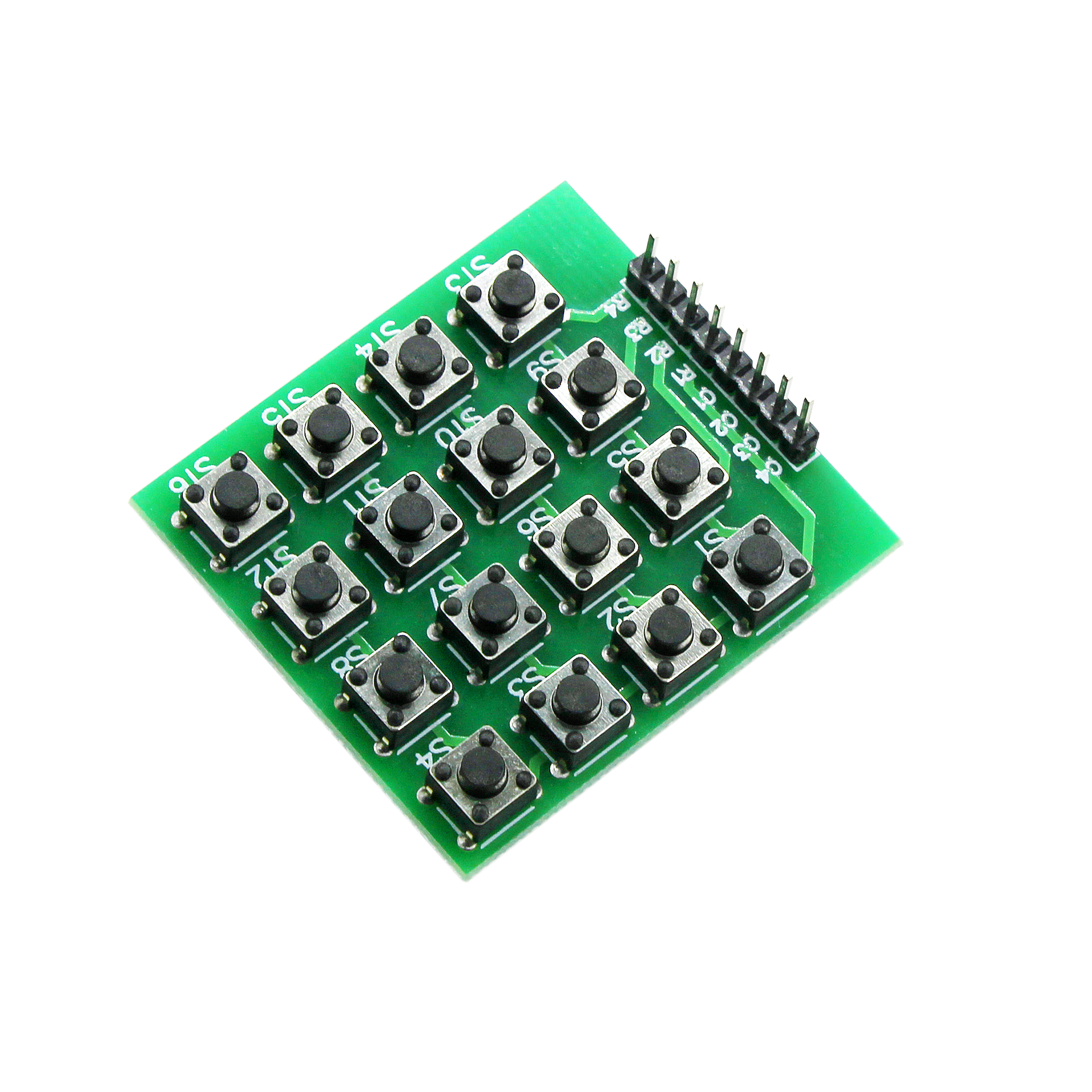 8pin 4x4 4*4 Matrix 16 Keys Button Keypad Keyboard Breadboard Module MCU For Arduino Diy Kit