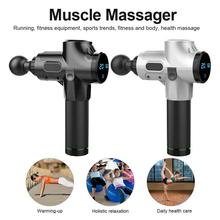 Therapy Massage Guns LED Muscle Massager Pain Sport Massage Machine Relax Body Slimming Relief 4 Heads With Bag dropshipping