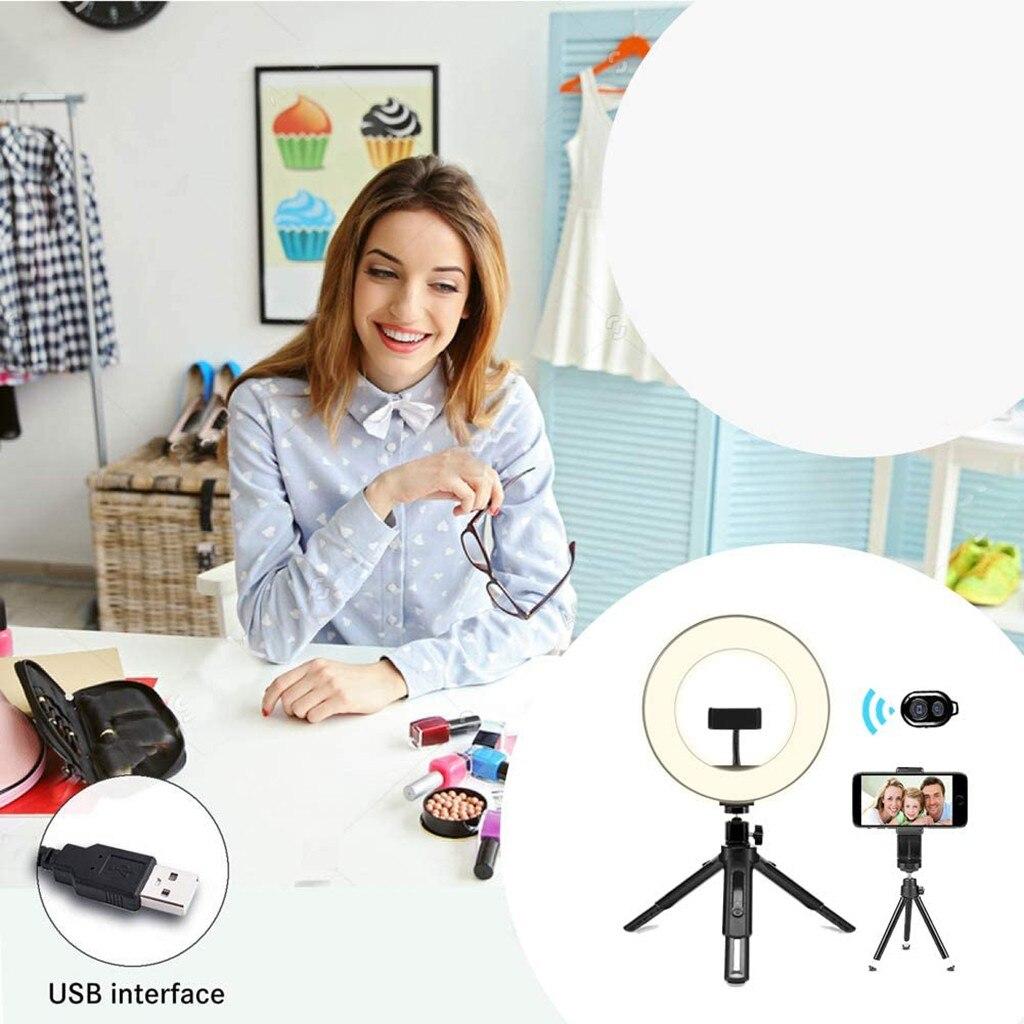 cheapest Selfie LED Ring Light Rechargeable Portable Clip Fill Light for Phone Tablet Video DJA88