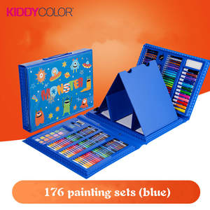 Watercolor-Pen-Set Stationery Art-Supplies Painting Schoolchildren's Gift 176 Boxes Opening