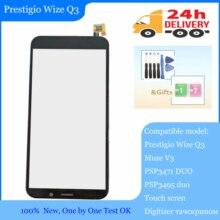 "במלאי 4.95 ""מגע מסך עבור Prestigio Wize Q3 PSP3471DUO PSP3471 DUO/Muze V3 PSP3495duo PSP3495 digitizer פנל"