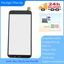 "En existencia pantalla táctil de 4,95 ""para Prestigio Wize Q3 PSP3471DUO PSP3471 DUO/Muze V3 PSP3495duo PSP3495 panel digitalizador"