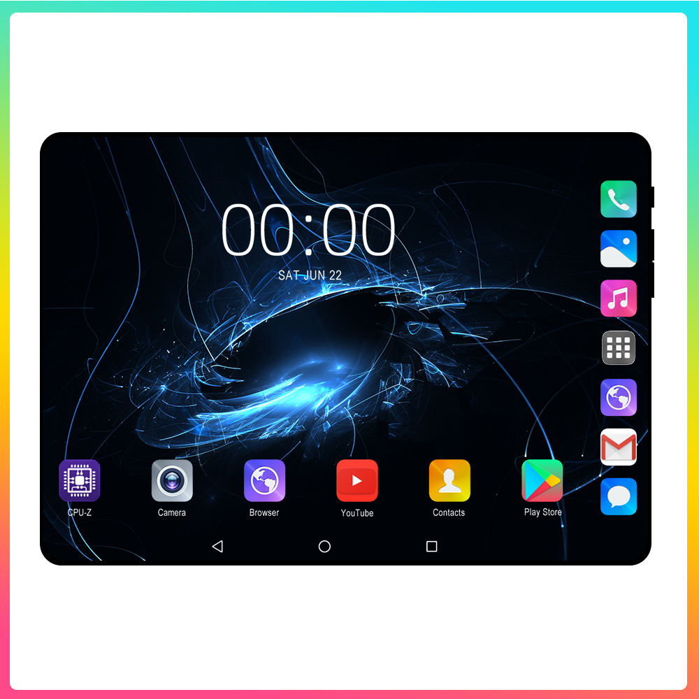 Super Tempered 2.5D Glass 10.1 Inch Tablet PC Android 9.0 OS Octa Core 6GB RAM 128GB ROM 8 Cores 1280*800 IPS Phablet Tablets 10