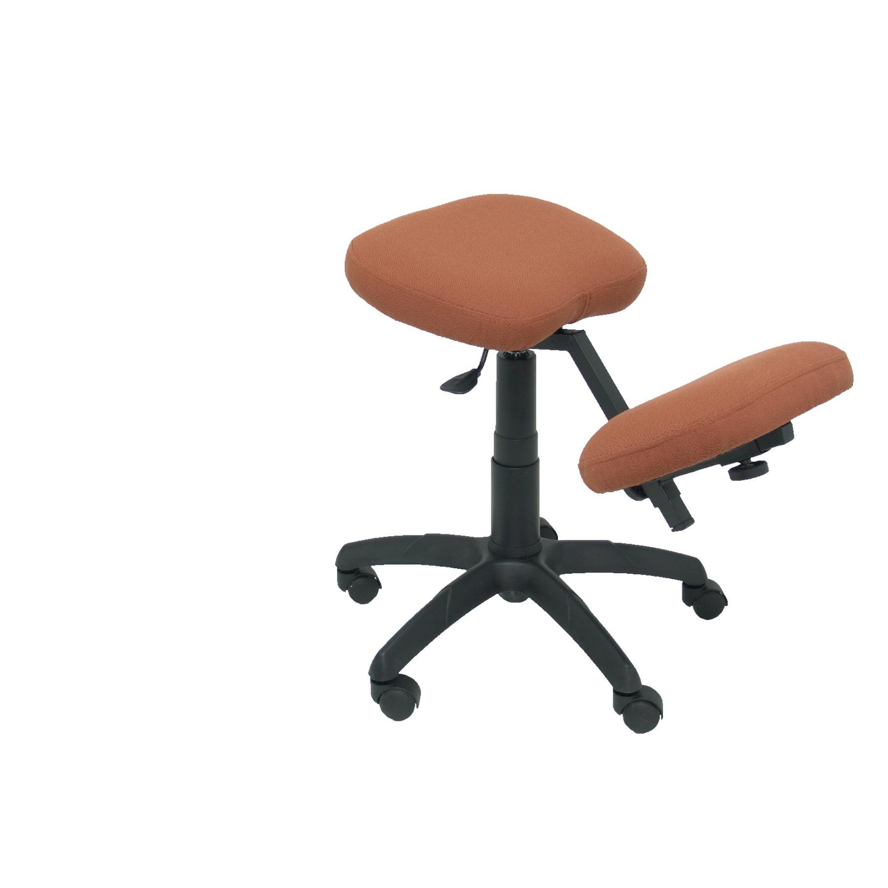 Office's Stool Ergonomic Swivel And Dimmable In High Altitude Up Seat Upholstered In BALI Tissue Color Brown (RODILLER