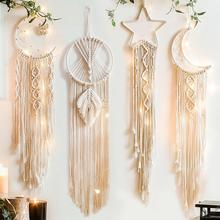 Tapestry Boho Deco Room-Decoration Macrame Wall-Hanging Pared Moon Girls Handmade Gift