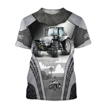 Tessffel Worker Farmer Tractor instrument Funny New Fashion 3DPrint Unisex Summer Casual Shorts sleeves T-shirts Mens/Womens A-1 2